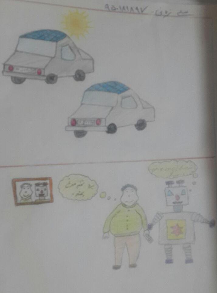 نقاشی بچه ها از ربات ها